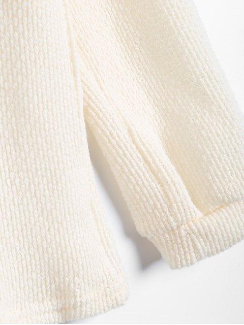 fancy Long Sleeve V Neck Jumper - APRICOT M Mobile