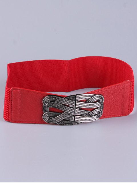 lady Faux Leather Stretch Belt -   Mobile