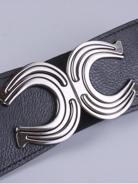 hot X Shape Buckle Elastic Belt -   Mobile