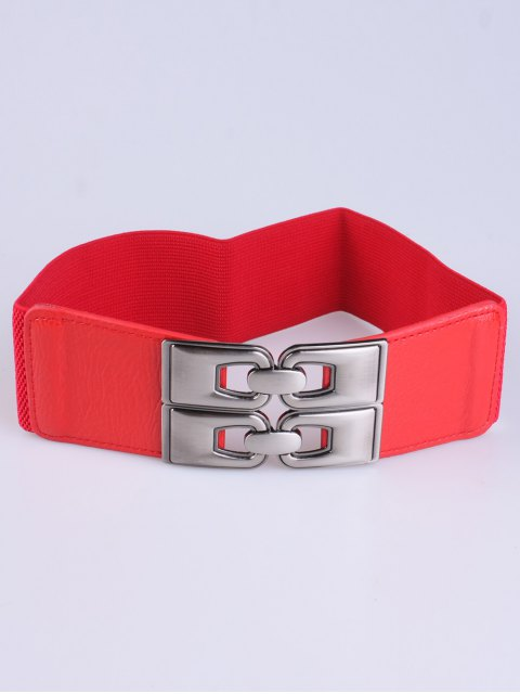affordable PU Alloy Elastic Wide Belt -   Mobile