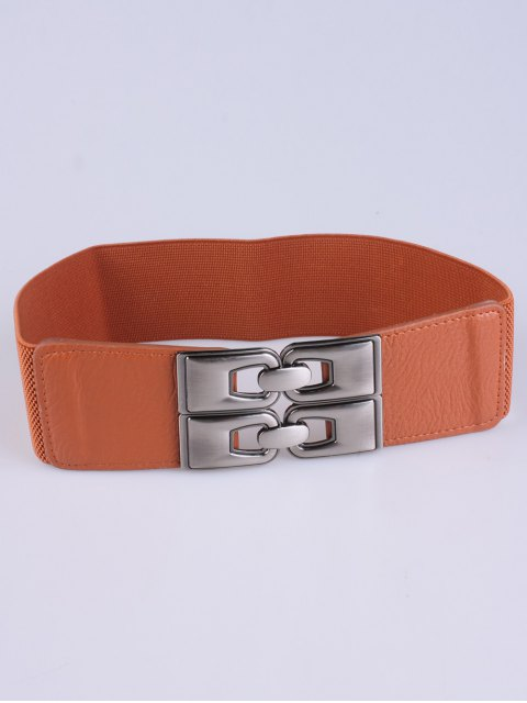 buy PU Alloy Elastic Wide Belt -   Mobile