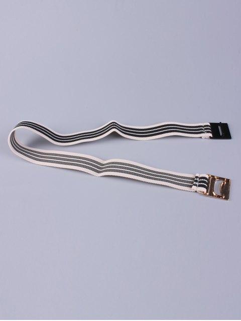 new Striped Elastic Wide Belt - BLACK  Mobile