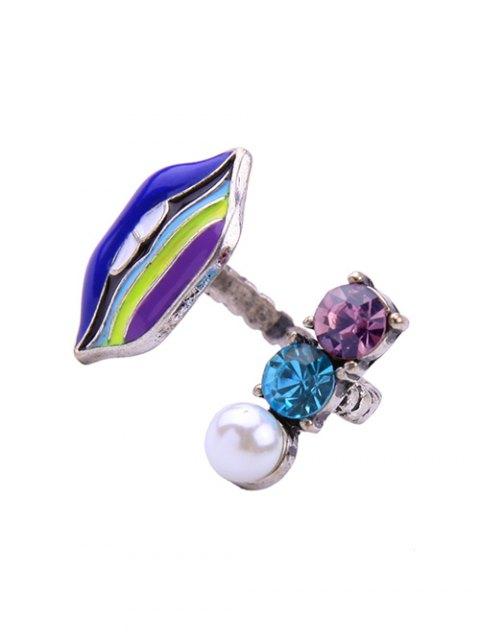 sale Lip Fake Pearl Cuff Ring -   Mobile