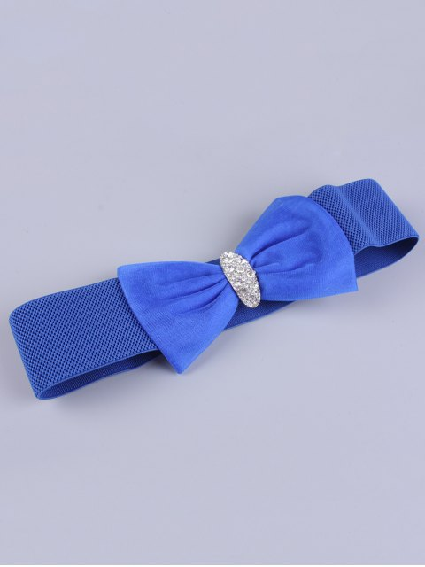 outfit Bowknot Rhinestone Elastic Wide Belt -   Mobile
