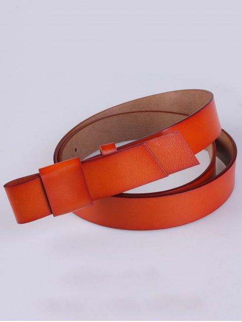 latest Adjustable Faux Leather Belt - DARKSALMON  Mobile