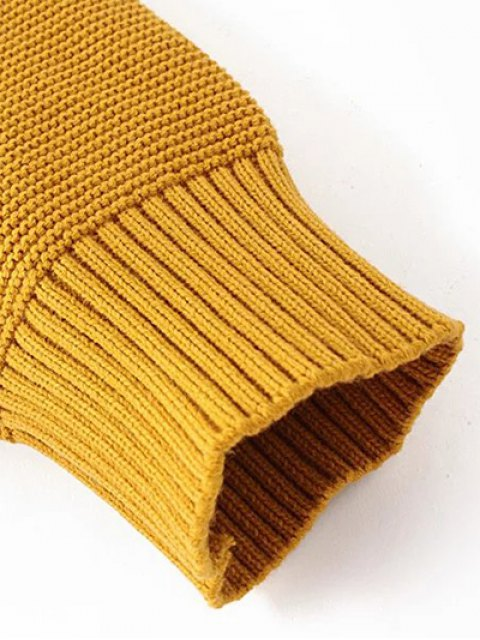 affordable Oversized Turtle Neck Sweater - CAMEL ONE SIZE Mobile