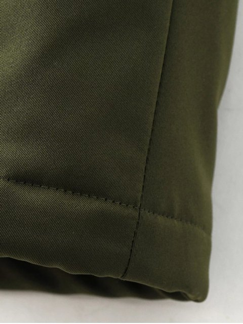 shop Skirted Utility Coat - ARMY GREEN L Mobile