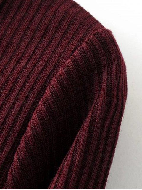 lady Lace-Up Knitting Dress - BLACK S Mobile