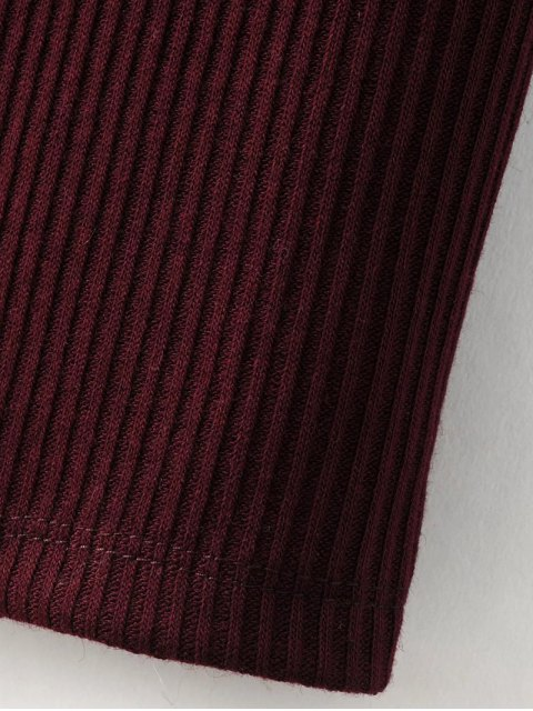 ladies Lace-Up Knitting Dress - BLACK M Mobile