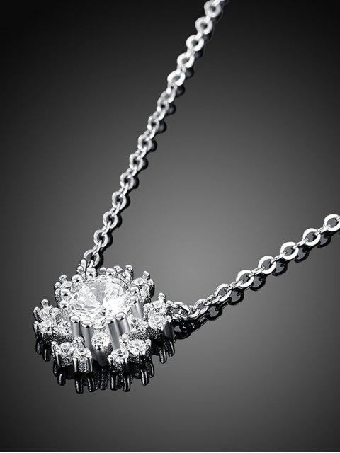 chic Snowflake S925 Diamond Necklace -   Mobile