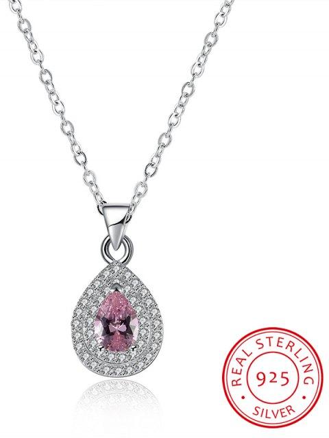 fancy Teardrop S925 Diamond Necklace - SILVER  Mobile