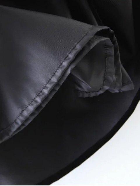sale Ethnic Floral A-Line Skirt - BLACK L Mobile