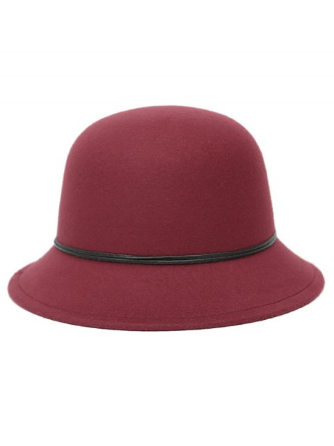 fashion PU Rope Dome Hat -   Mobile