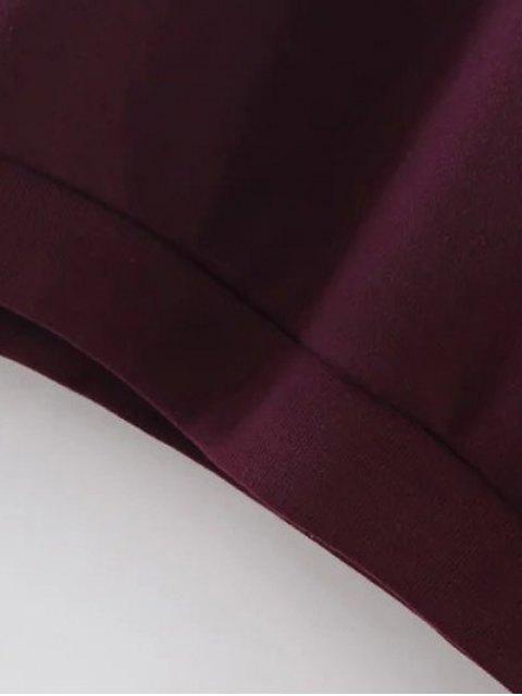 shops Sports Figure Print Sweatshirt - WINE RED M Mobile