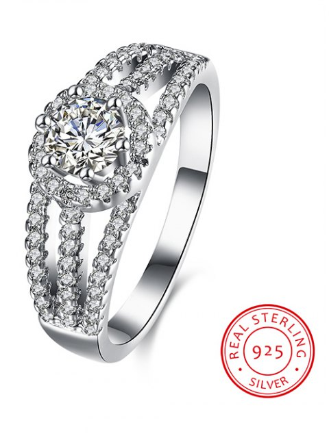 lady S925 Diamond Layered Ring - SILVER 7 Mobile