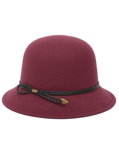 chic PU Rope Arrow Dome Hat -   Mobile