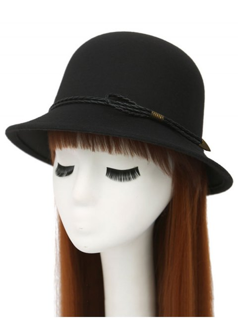 sale PU Rope Arrow Dome Hat - BLACK  Mobile