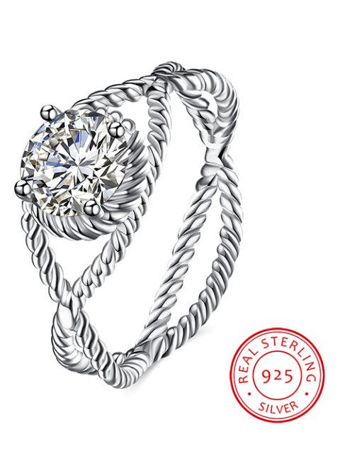 new S925 Diamond Circle Ring - SILVER 7 Mobile