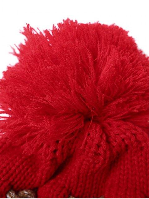 best Criss Cross Pom Ball Knitted Beanie -   Mobile