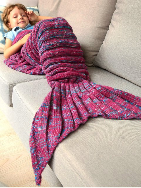 new Kintted Kids Wrap Mermaid Tail Blanket -   Mobile