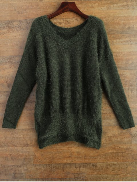 outfits Fluffy Basic Sweater - GREEN 2XL Mobile