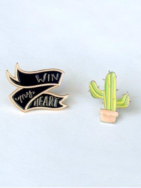 lot de broche en forme de fleur lettre fromage cactus or bijoux corporels zaful. Black Bedroom Furniture Sets. Home Design Ideas