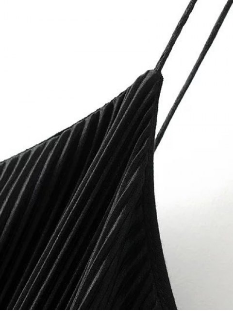 hot Pleated Slip Dress - BLACK S Mobile