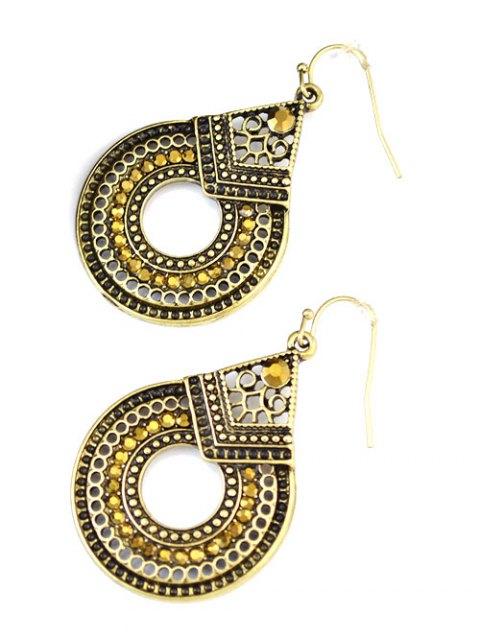 shop Rhinestoned Teardrop Earrings - GOLDEN  Mobile