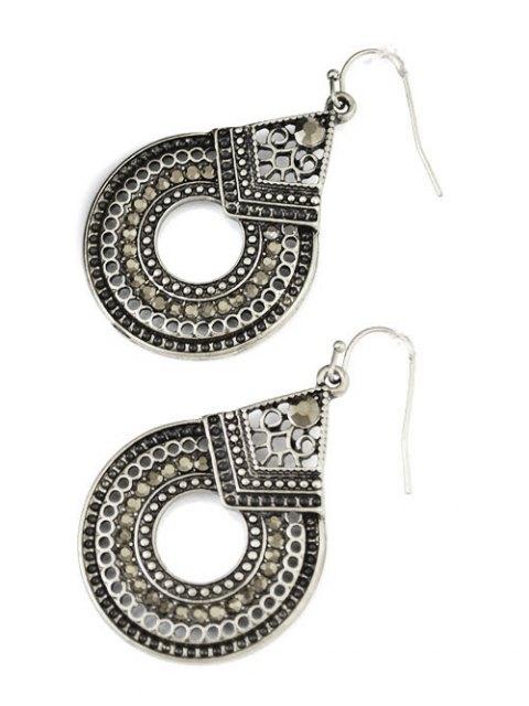 shops Rhinestoned Teardrop Earrings - SILVER  Mobile