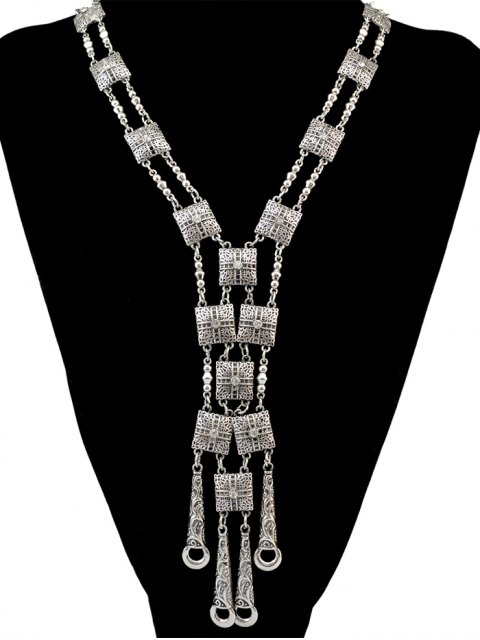 women Rhinestone Geometric Necklace -   Mobile