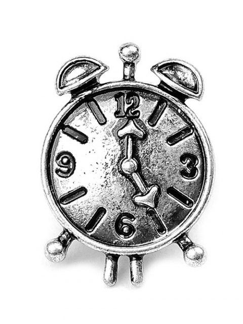 unique Spider Key Crown Clock Elf Brooch Set - SILVER  Mobile