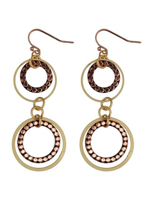 trendy Rhinestone Circles Earrings -   Mobile