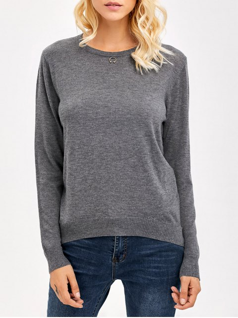 lady Comfy Knitwear - GRAY ONE SIZE Mobile