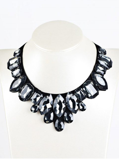 outfit Geometry Faux Crystal Necklace -   Mobile