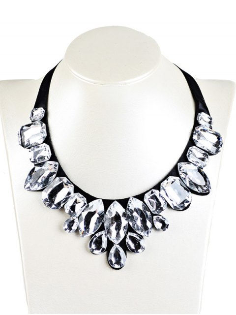 outfits Geometry Faux Crystal Necklace -   Mobile