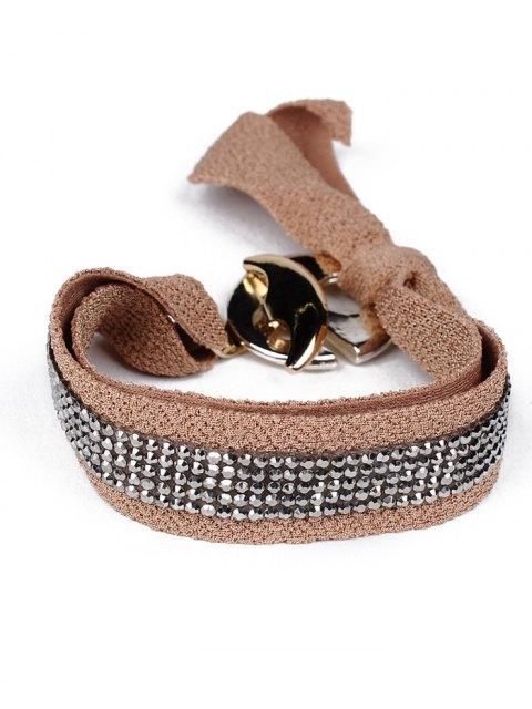 fancy Bowknot Rhinestone Lint Bracelet -   Mobile