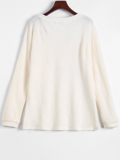 Long Sleeve V Neck Jumper - APRICOT S Mobile