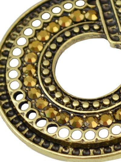 Rhinestoned Teardrop Earrings - GOLDEN  Mobile