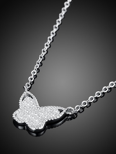 Butterfly S925 Diamond Necklace - SILVER  Mobile