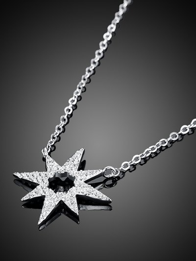 Star Flower S925 Diamond Necklace - SILVER  Mobile