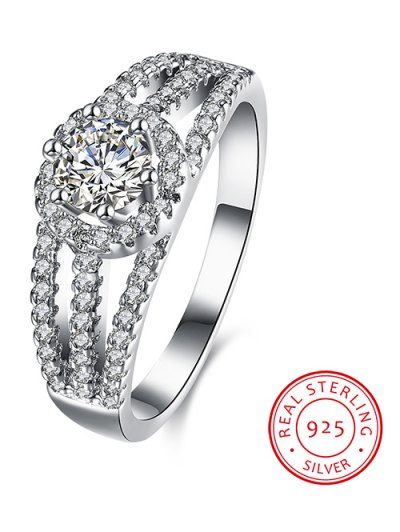 S925 Diamond Layered Ring - SILVER 7 Mobile