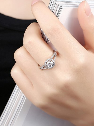 S925 Diamond Round Ring - SILVER 7 Mobile