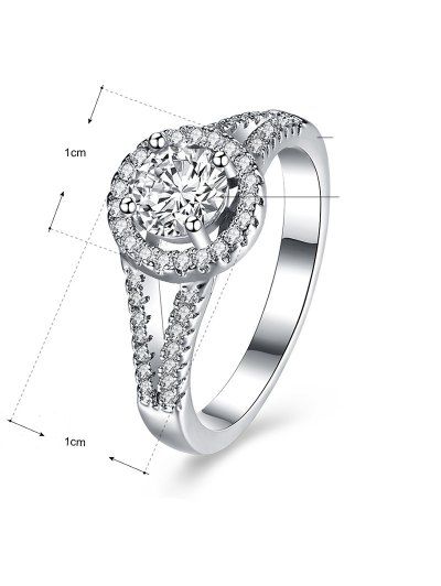 S925 Diamond Round Ring - SILVER 6 Mobile