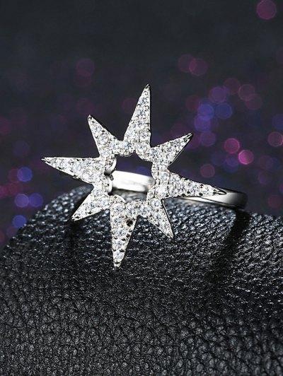 Flower Star S925 Diamond Ring - SILVER 8 Mobile