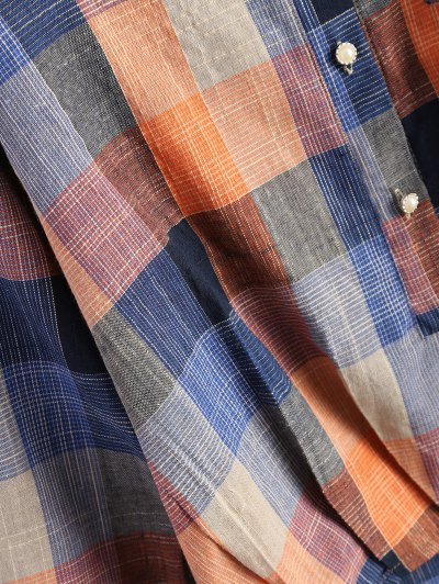 Checked Shirt With Pocket - PLAID 2XL Mobile