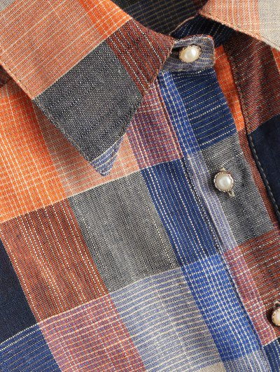 Checked Shirt With Pocket - PLAID M Mobile