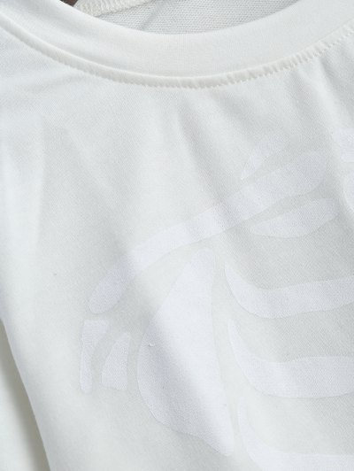 Skeleton Graphic Halloween Sweatshirt - WHITE S Mobile