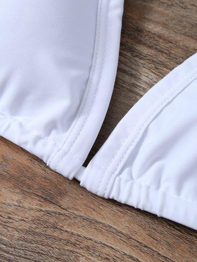 Padded Braided Zig Zag Bikini Set - WHITE L Mobile