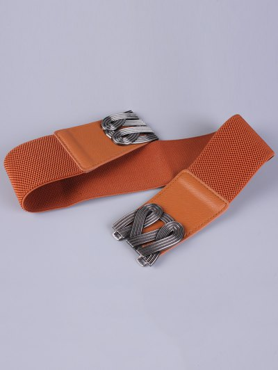 Faux Leather Stretch Belt - CHOCOLATE  Mobile