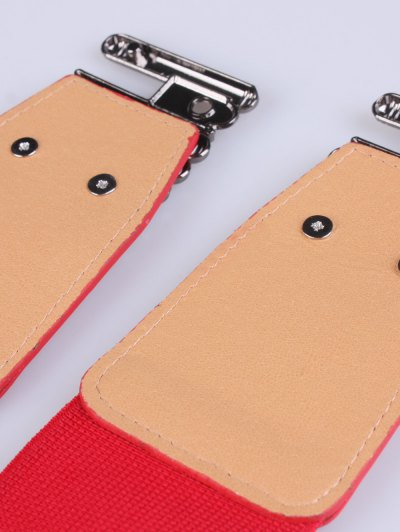 Bowknot Decorative Elastic Wide Belt - RED  Mobile
